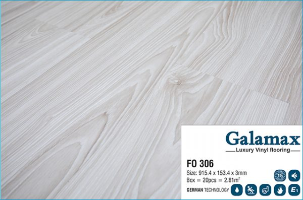 Sàn nhựa Galamax Luxury Vinyl 3mm FO 306 - Bề mặt
