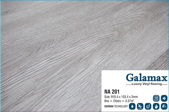 Sàn nhựa Galamax Luxury Vinyl 2mm NA 201 - Bề mặt